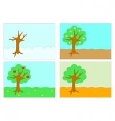 four seasons vector image