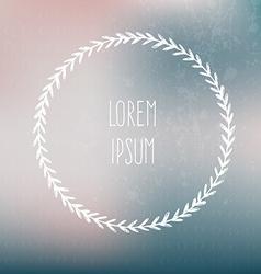 Frame on blured background vector image