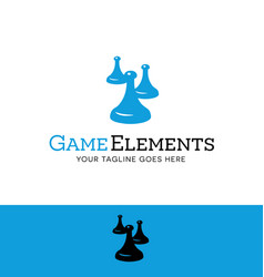 game tokens logo vector image vector image