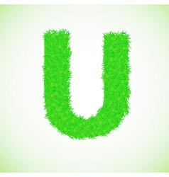 grass letter U vector image