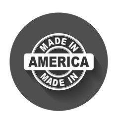 Made in america vector