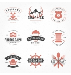 Retro Vintage Logotypes or insignias Hand drawn vector image vector image