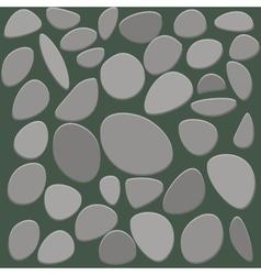 Stone floor tile on white background vector