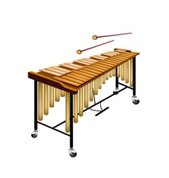 A Musical Vibraphone Isolated on White Background vector image