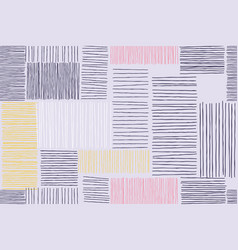 abstract patchwork art pattern background vector image