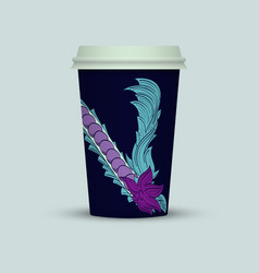 Abstract plastic coffee cup vector