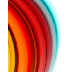 Abstract wave lines fluid color stripes vector