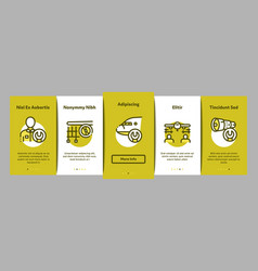 Aircraft repair tool onboarding elements icons set vector