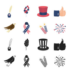 american eagle ribbon salute the patriot day vector image