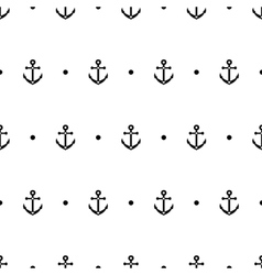 Anchor dot in black and white seamless pattern vector image