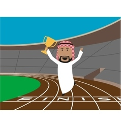Arabian businessman wins the trophy vector