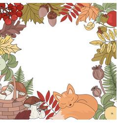 Autumn border animal season nature vector