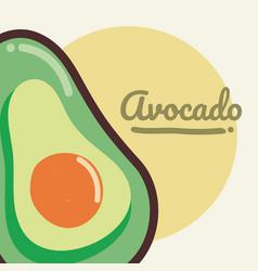 avocado vegetable cartoon vector image