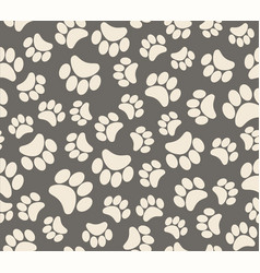 Background animal footprints cats dogs beers vector