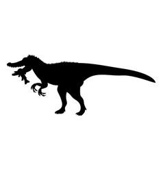 Baryonyx silhouette dinosaur jurassic prehistoric vector