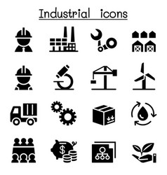 basic industrial icon set vector image