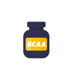 Bcaa amino icon on white vector