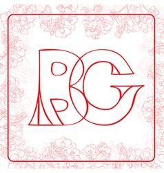 BG monogram vector image