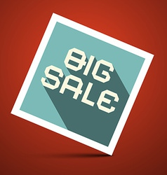 Big Sale Title on Red Background vector image