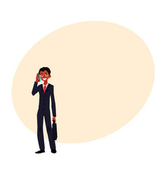 Black african american businessman standing vector