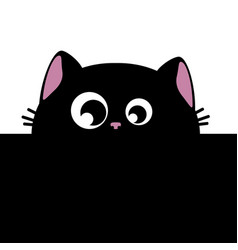 Black cat and stripes vector