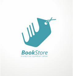 bookstore logo design vector image