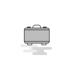 briefcase web icon flat line filled gray icon vector image