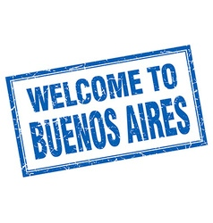 Buenos Aires blue square grunge welcome isolated vector