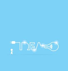 Businessman and light bulb idea vector