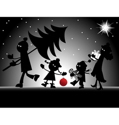 Christmas holidays vector image