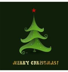Christmas tree - Greeting Card vector image