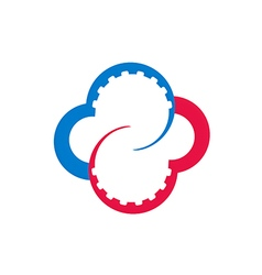 Circle work gear color business logo vector