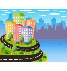 Colorful city vector image