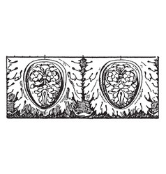 Colossal egg-and-leaf moulding enrichment vintage vector