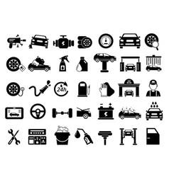 Different details of automobile car services vector