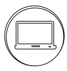 figure laptop emblem icon vector image