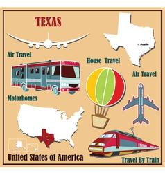 Flat map texas vector