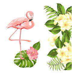 Floral exotic natural decoration safary summer vector