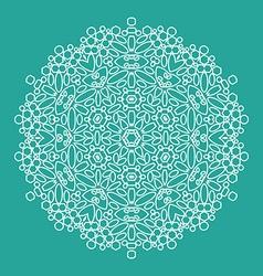 geometrical flower mehendi mandala vector image