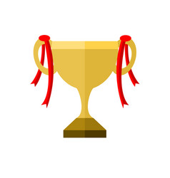 golden championship trophy vector image