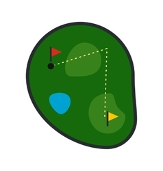Golf course flat icon vector image