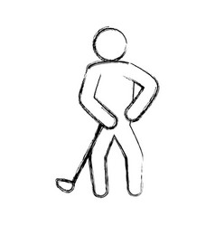 Golf player pictogram vector