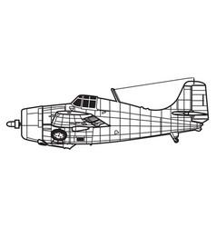 Grumman f4f wildcat vector