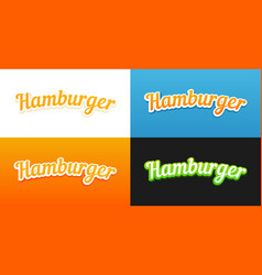 Hamburger captions vector