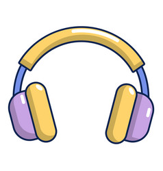 headphones icon cartoon style vector image