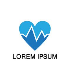 heart logo love cardiology medical vector image