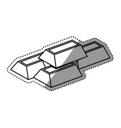 ingots gold bars vector image
