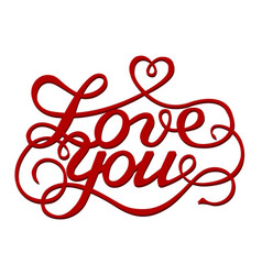 Inscription love you vector