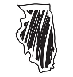 Isolated sketch state illinois vector