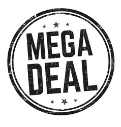 mega deal sign or stamp vector image